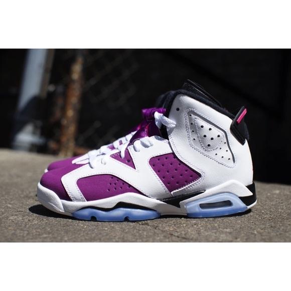 """buy popular 1c242 fe0ef Jordan Shoes - AIR JORDAN 6 GS """"BRIGHT GRAPE"""" RETRO"""